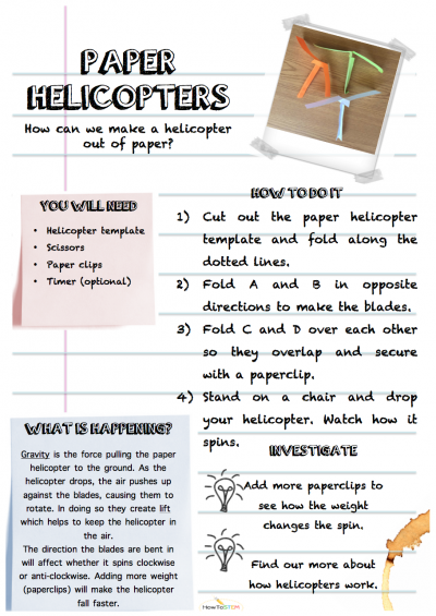 Paper Helicopters