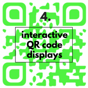 interactive QR code displays