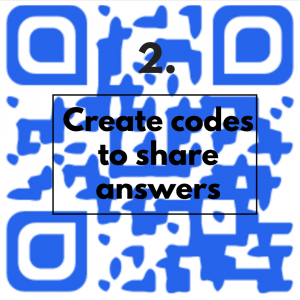 create codes to share answers