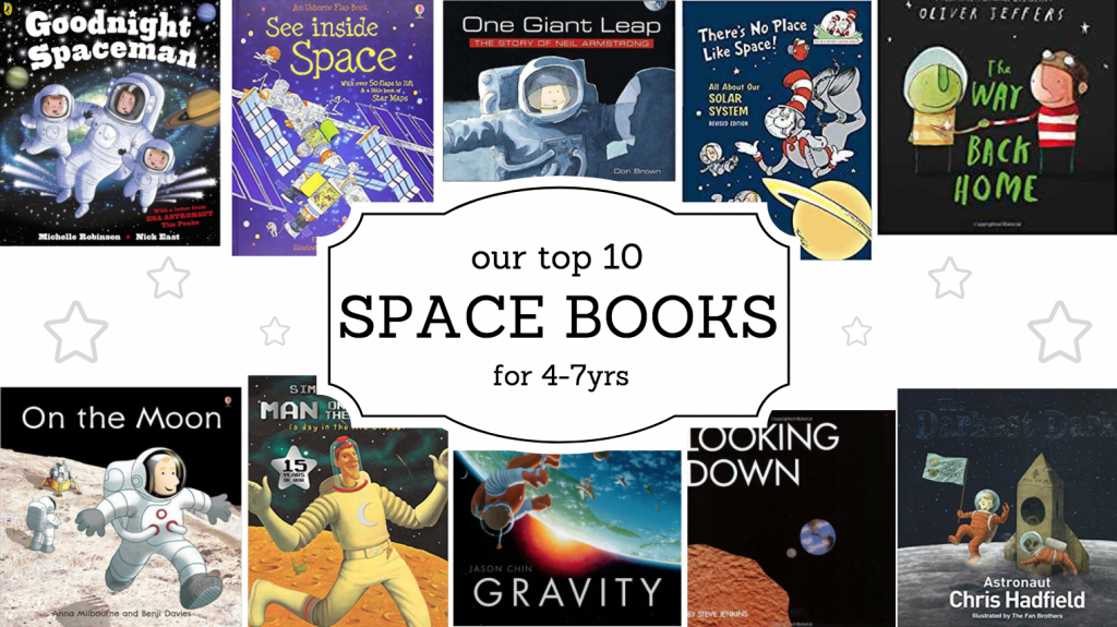 top 10 space books 4-7yrs