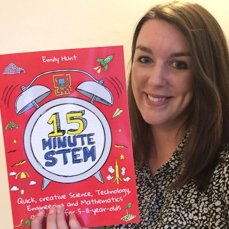 Emily Hunt with 15-minute STEM book 2018