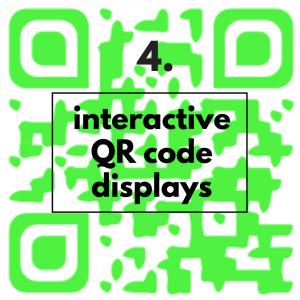 interactive QR code displays