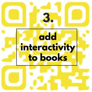 add interactivity to books