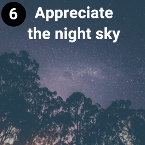 Appreciate the night sky